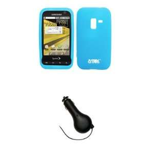 EMPIRE Sprint Samsung Conquer 4G Light Blue Silicone Skin