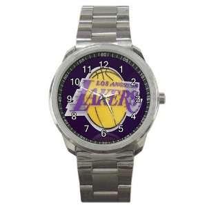 NBA Los Angeles Lakers Graphic Logo Sport Metal Watch