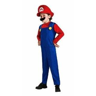 Super Mario, Luigi Costume Size Boy Medium (8) Toys
