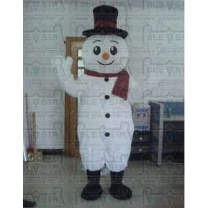 snowman mascot costumes snow man costume for christmas Toys & Games