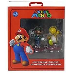 Nintendo Super Mario Mini Figurine Collector 2 Pack Luigi