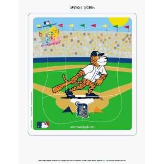 MLB Detroit Tigers Wooden Mascot Puzzle ** Sports