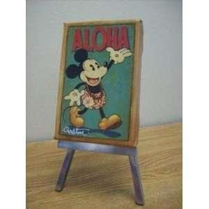 Mickey Mouse Aloha Hawaii Disney Fine Art Mini Limited