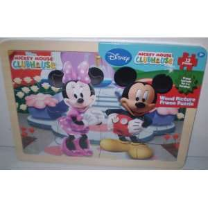 Disney Mickey Mouse Clubhouse Wood Picture Frame Puzzle  Toys & Games