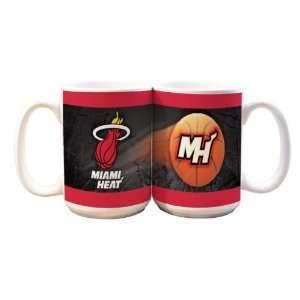 NBA Miami Heat 2 Pack 15oz White SportsBall Mug  Sports