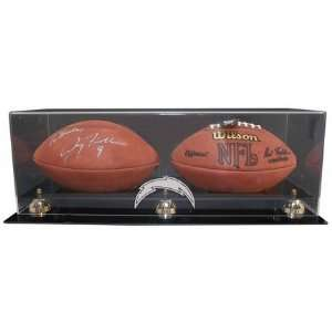 Football Display Case with Gold Risers and Engraved NFL Team Logo
