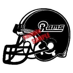 ST. LOUIS RAMS NFL TEAM WHITE VINYL DECAL STICKER