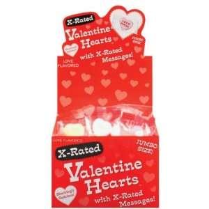 1 Jumbo Heart Xrated Valentine Candy   Display of 100