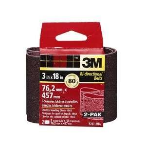 3M 3 x 18 Heavy Duty Power Sanding Belts, Packaged