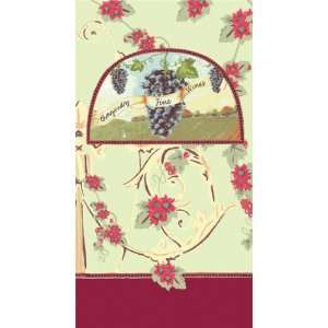 Wine Themed Guest Hand Towels   Fine Wines