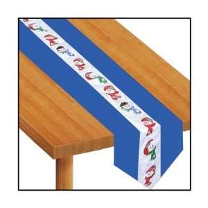 Snowman Fabric Table Runner Party Accessory (1 count) (1/Pkg)