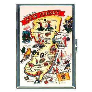 New Jersey Map, Retro Sights, ID Holder, Cigarette Case or