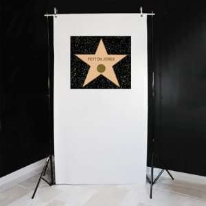 Hollywood Star Photo Booth Backdrop