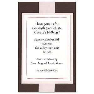 Brown & Pink Invitation Baby Wedding Baby