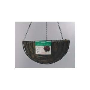 AquaSav Coco Hanging Basket Planter   16 inch   Green