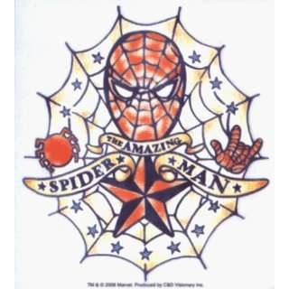 Spider Man   Retro Tattoo Style Amazing Spiderman Logo