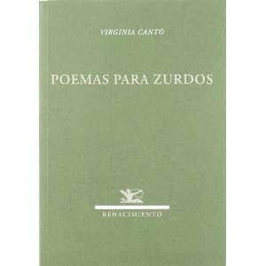 Poemas para zurdos. (9788484725275) Virginia.  CANTÓ