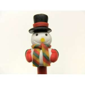 FIMO POLYMER CLAY SNOWMAN CHRISTMAS PEN #3 Arts, Crafts