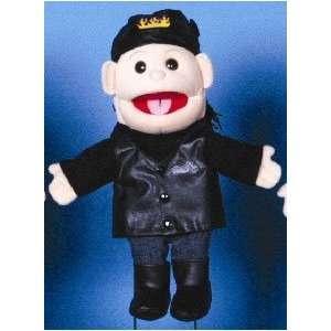 14 Biker Girl Glove Puppet w/ Black Hair Toys & Games