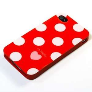 Red and White / Polka Dot Pattern Plastic Case For Apple