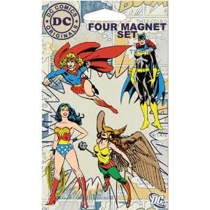 DC Comics Superheroes Four Piece Refrigerator Magnet Set