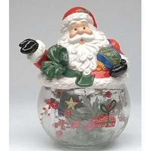 on Glass and Ceramic Cookie Jar, 9.5 inches tall