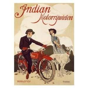 Retro Motor Bike Prints Indian Motorcycles   Motor Bike Advertisement