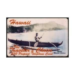 Collectible Phone Card $20. Hawaii Travelers Choice Outrigger Boat