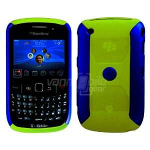 Blue/Olive Green Hard Robotic Rubber Feel Case for BlackBerry Curve