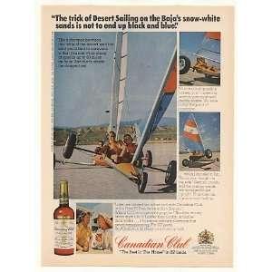 Desert Sailing Baja White Sands Canadian Club Print Ad