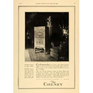 1920 Ad Cheney Talking Machine Music Cabinets Decor