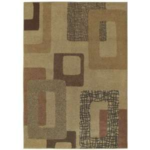Metro Sand Beige Contemporary Area Rug 3.90 x 5.60.: Home & Kitchen