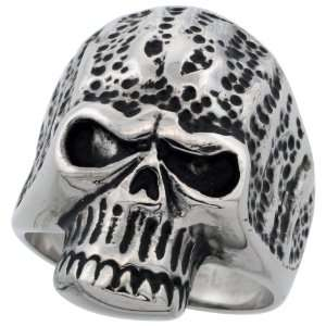 Surgical Stainless Steel Skull Biker Ring (Available in Sizes 9 to 15