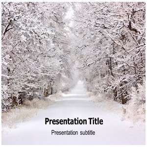 Powerpoint Template   Ice Road Powerpoint (PPT) Backgrounds Slides