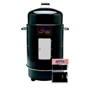 852 7080 V Gourmet Charcoal Smoker and Grill with Vinyl Cover, Black