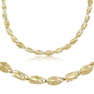 14k Yellow Gold Solid Marquise Chain Necklace 3mm 18