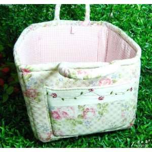 Shabby and Vintage Pink Rose Organization Stocking Bag