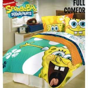 Nickelodeon Spongebob Squarepants Full Comforter   Classic Fresh