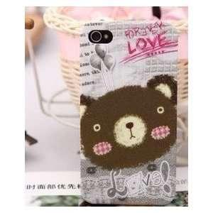 iPhone 4G Teddy Bear Head Shape Series Hard Case/Cover