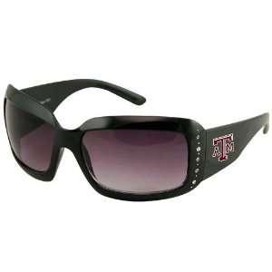 Texas A&M Aggies Ladies Black Rhinestone Oversized Fashion Sunglasses