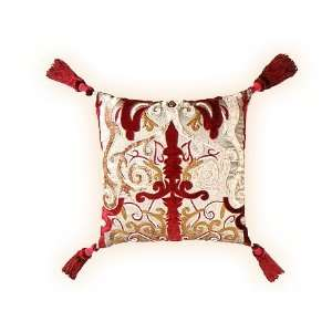 Decorative cushion cover or throw pillow cover from India