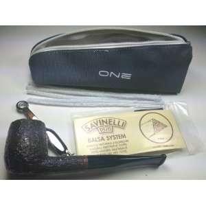 Savinelli One (104) Rustic Tobacco Pipe Starter Kit (New