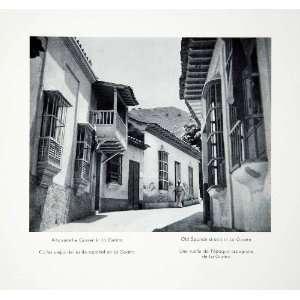 1956 Print Old Spanish Street Scene La Guaira Venezuela Cityscape