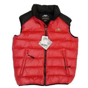 Topsky Water Repellent Down Proof Nylon Fabric Down Vest For Men Snow