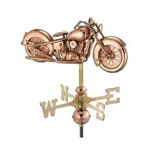 Good Directions Garden Weathervanes Motorcycle Polished