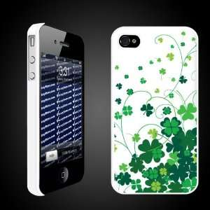 St. Patricks Day Irish Designed Clover Swirls   White