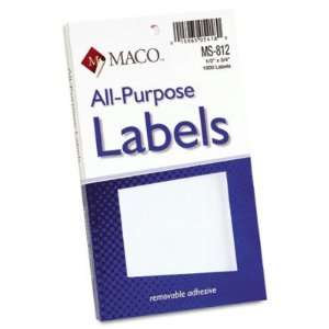 Multipurpose Self Adhesive Removable Labels   1/2 x 3/4, White