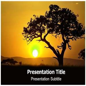 Acacia PowerPoint Template   PowerPoint (PPT) Backgrounds Templates on