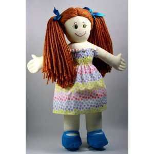 Suzies Dolls   Set of 18 Lilly Rag Doll with 3 Outfits and Backpack