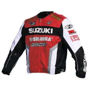 Suzuki Mesh Replica Jacket   Large/Red/White/Black/Silver Automotive